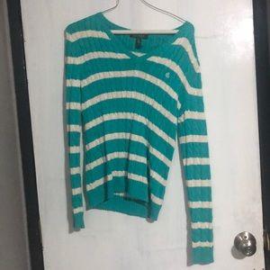 Ralph Lauren blue and white sweater